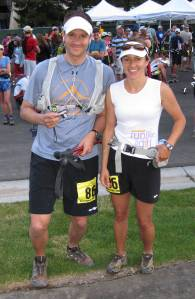 Mindy and Derek at the Start