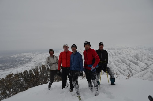 A rough group of local mountain enthusiasts on lap 1, 2012.