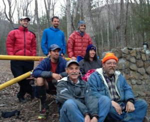 A gnarly gang : Brett, me, John Fegyveresi, Travis Wildeboer, Nick Hollon , Frozen Ed, Laz