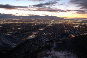 SLC just after sunet
