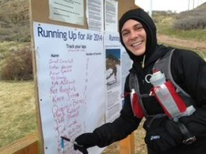 Kyle Markisich checks off another summit during the 2014 Running Up for Air