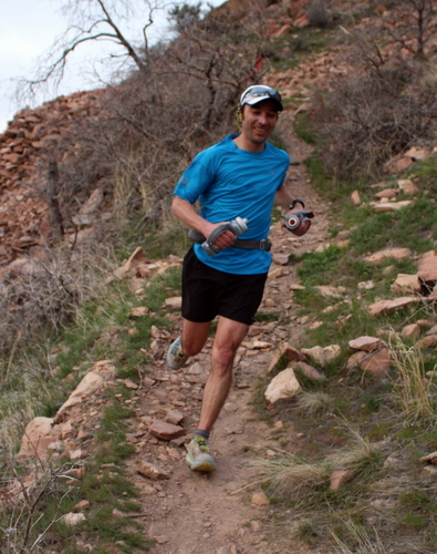 Christian Johnson in the early miles of the BoSho 2014