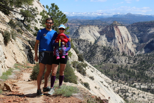 Our family on the West Rim