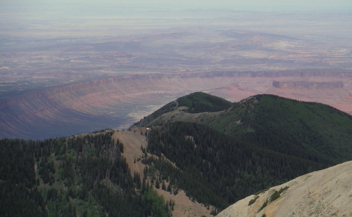 Another view down into Castle Valley.  Note Porcupine Rim