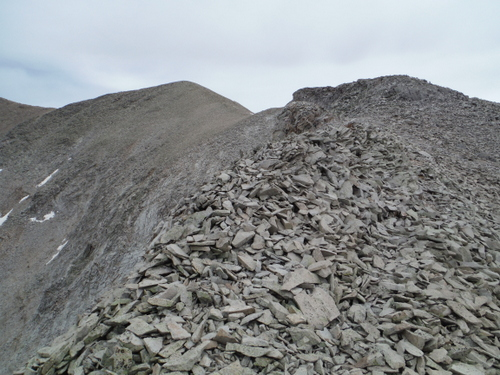 Gotta love talus fields!  This is the climb up to Mount Peale (12,721')