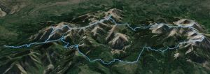 """Google Earth """"aerial"""" view of the route"""