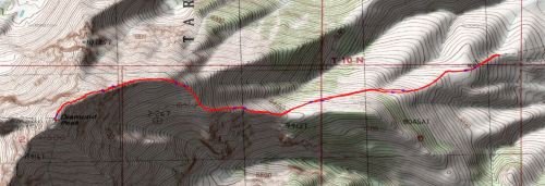 East ridge of Diamond
