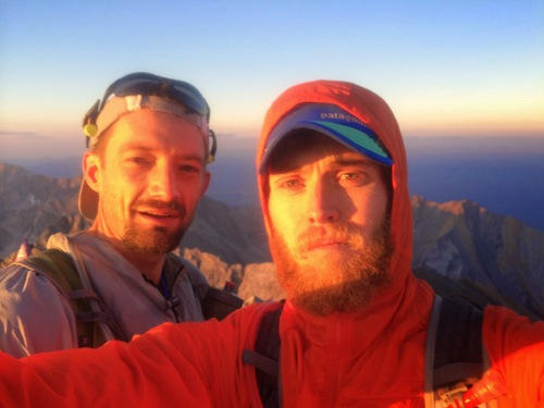 Luke and I on top of Borah at 6:48 AM