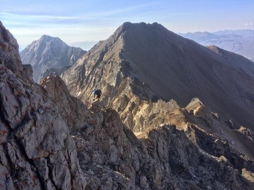 Descending the south ridge of Mt. Idaho