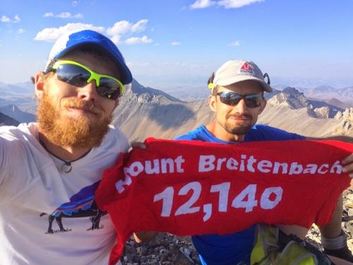 Luke and Jared on the summit of Mount Breitenbach.