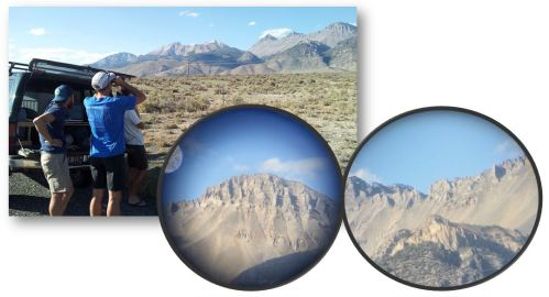 binoculars and iPhone scoping...