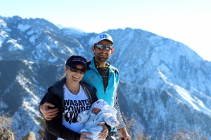 The Campbell family on Grandeur Peak.