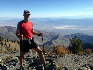 Ben on the summit of Telescope Peak, some 11,325' above our starting point - Badwater.