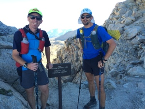 Ty and I on Forester Pass - JMT 2015